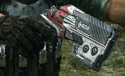 Red RDA revolver with berrel shroud 1