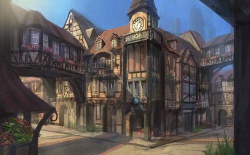 Fantasy rpg town by e mendoza-d6lb9td