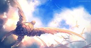 Sky turtle by yuumei-d73e7e0