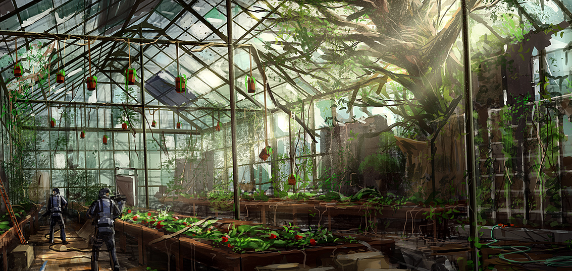 Fantasy Farm Plantation Concept Art