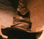 Leslie Phillips as The Sorting Hat (Voice) (COS)