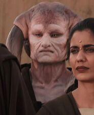 Khan Bonfils as Saesee Tiin (TPM)