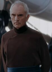 Terence Stamp as Chancellor Valorum