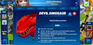 Devil Dinosaur's Profile