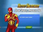 Outfit Unlocked! Iron Spider Amadeus Cho