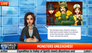Monsters Unleashed Newscast