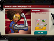 Captain America Misty Knight Coin Requirements