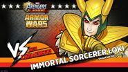 Immortal Sorcerer Loki Armor Wars