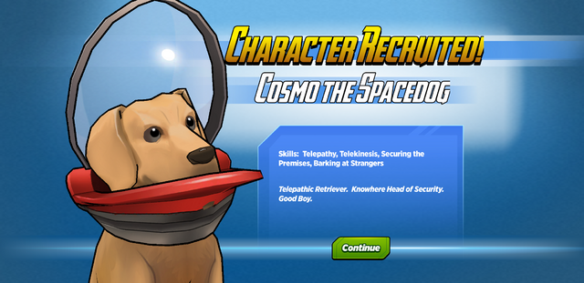 File:Character Recruited! Cosmo the Spacedog.png