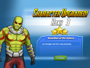 Character Upgraded! Drax Rank 3