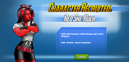 Character Recruited! Red She-Hulk