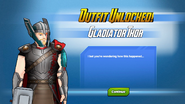 Outfit Unlocked! Gladiator Thor
