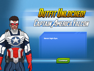 Outfit Unlocked! Captain America Falcon