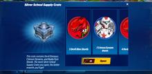 Silver School Supply Crate