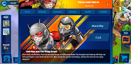 Ant-Man and The Wasp Event Tab
