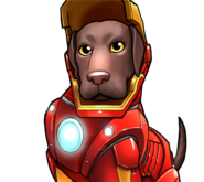 Labrador Iron Man icon