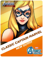 New Outfit! Classic Captain Marvel
