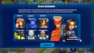 Return of A-Force Event Schedule