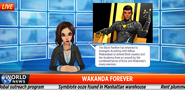 Black Panther Event newscast