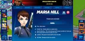 Maria Hill Profile
