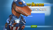 Outfit Unlocked! Dinosaur Captain America