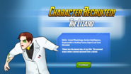 Character Recruited The Lizard