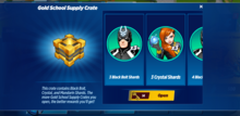 Gold School Supply Crate