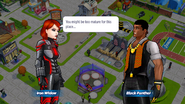 Black Panther speaking with Black Widow