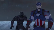 Black panther and captain america
