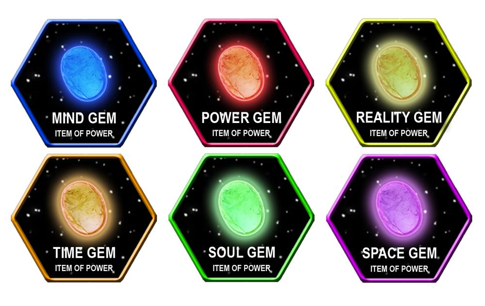 Infinity Gems Glyphs