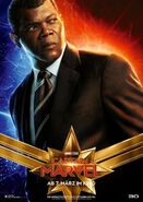 Captain Marvel deutsches Charakterposter Nick Fury