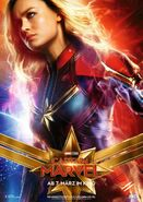 Captain Marvel deutsches Charakterposter Captain Marvel