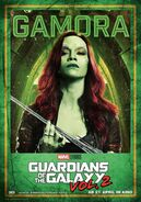 Guardians of the Galaxy Vol.2 deutsches Charakterposter Gamora