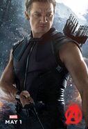Charakterposter Hawkeye Avengers - Age of Ultron