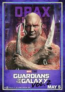 Guardians of the Galaxy Vol.2 Charakterposter Drax