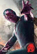 Englisches Charakterposter Vision Avengers - Age of Ultron
