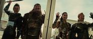 Sif With Warriors Three Hogun Volstagg Fandral