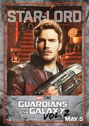 Guardians of the Galaxy Vol.2 Charakterposter Star-Lord