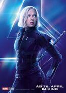 Avengers - Infinity War - Deutsches Black Widow Poster