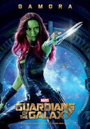 Guardians of the Galaxy Gamora movie poster