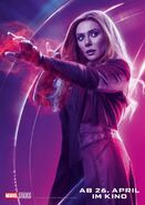 Avengers - Infinity War - Deutsches Scarlet Witch Poster