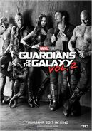 Guardians of the Galaxy Vol. 2 deutsches Teaserposter