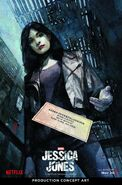 Marvel's Jessica Jones Production Art Poster