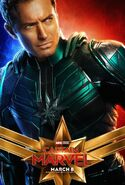 Captain Marvel Charakterposter (Jude Law)