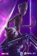 Avengers - Infinity War - Rocket, Groot Poster