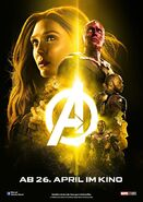 Avengers Infinity War - Poster - Gelb Deutsch