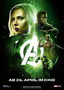 Avengers Infinity War - Poster - Grün Deutsch