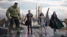 Hulk, Thor, Walküre, Loki Regenbogenbrücke