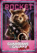 Guardians of the Galaxy Vol.2 deutsches Charakterposter Rocket