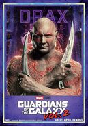Guardians of the Galaxy Vol.2 deutsches Charakterposter Drax